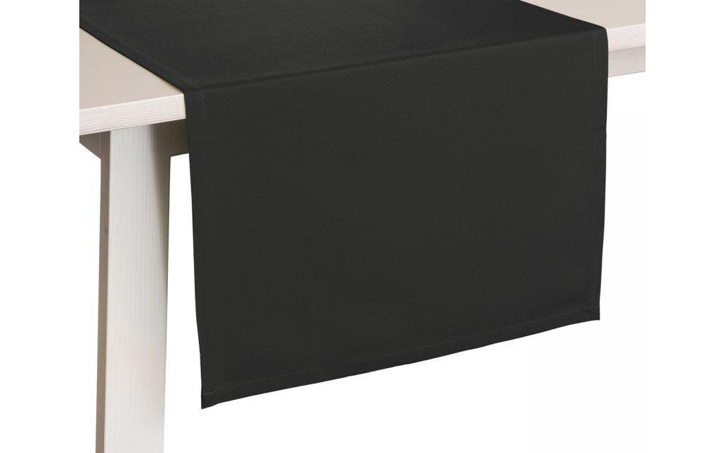 Tafellaken Como Zwart-50x150
