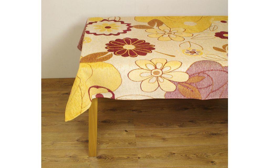 Tafelkleed FlowerPower Geel