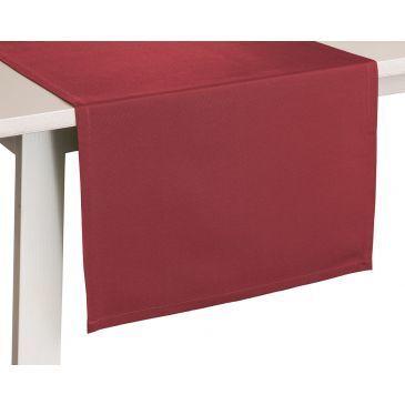 Tafelkleed Como Bordeauxrood-50x150